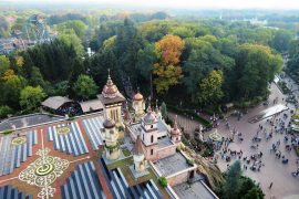 Efteling Symbolica attraction park view from above on the Pagoda