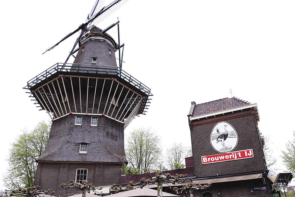 Brewery het Ij windmill Instagrammable Amsterdam spot