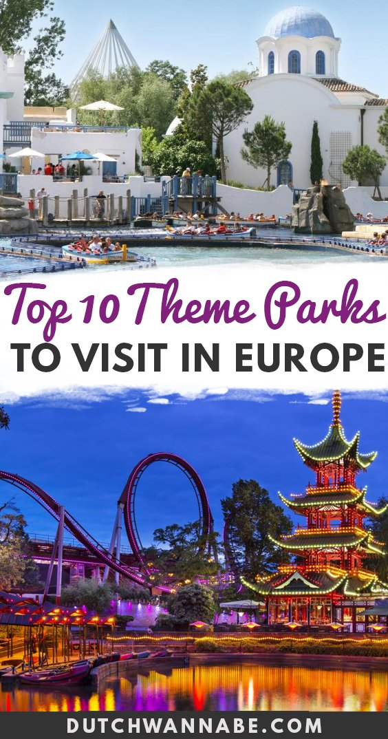 Top 10 Amusement Parks in Europe You Don\'t Wanna Miss. If you love theme parks, then don\'t miss these must-visit amusement parks in Europe! From Efteling to Parc Aventura, each is perfect for adults and kids! Best Theme Parks in Europe that are a must-visit including Disneyland Paris, Port Aventura, Tivoli Gardens, Parc Asterix, Efteling, Europa Park, Isla Magica, Bakken, Lego Billund, Vienna Prater.