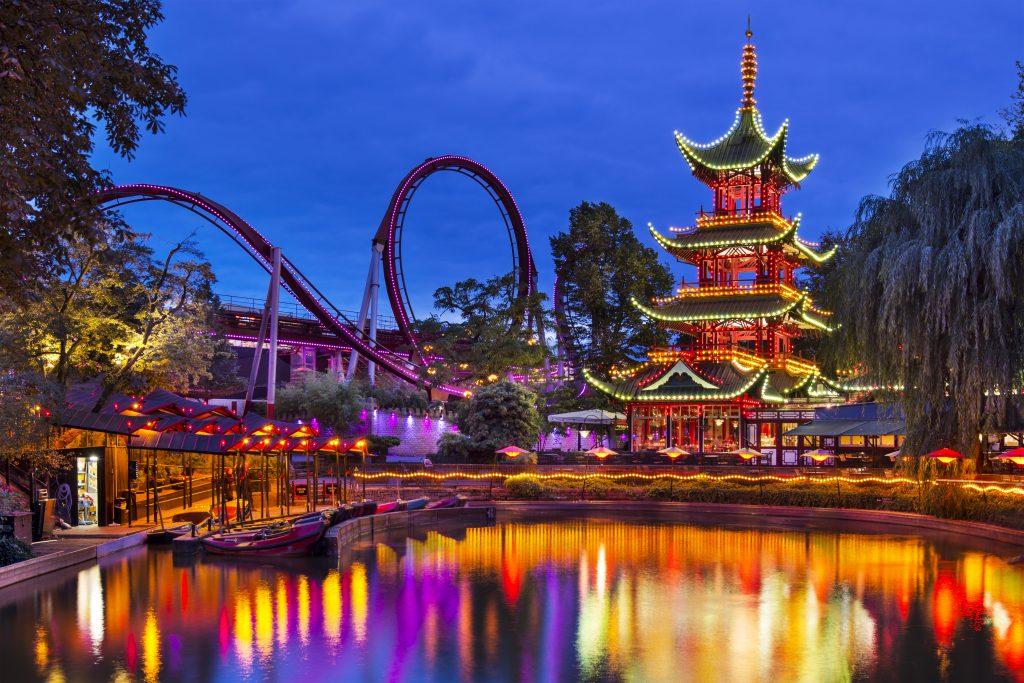 Tivoli Gardens theme park in Denmark