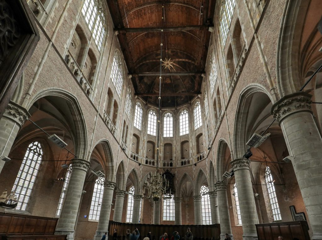 Things to do in Alkmaar Netherlands: Church interior of the Grote Sint Laurenskerk in Alkmaar Netherlands