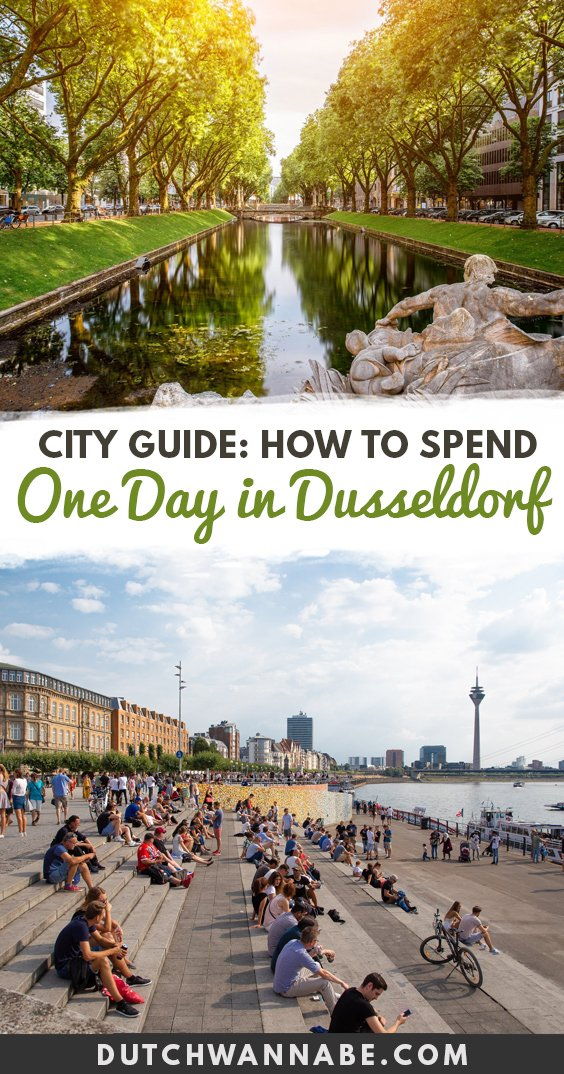 What to do in Dusseldorf Germany in one day. This city guide includes fun Dusseldorf activities, places to see in Dusseldorf, and all of it can be accomplished in a day! This 24 hour guide to the city mixes Old Town with modern architecture, the beautiful Rhein river with gorgeous views from above and much more. #cityguide #dusseldorf #europetravel #travelguide