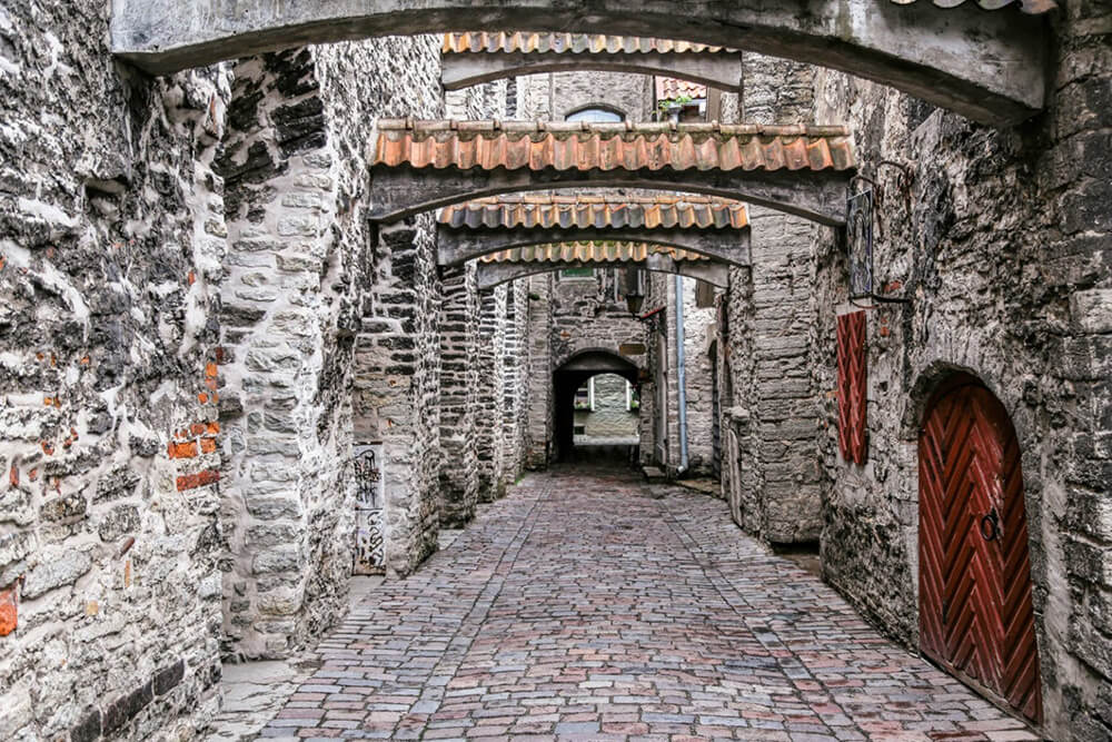 St. Catherine's Passage (Katariina käik) in Tallinn Estonia