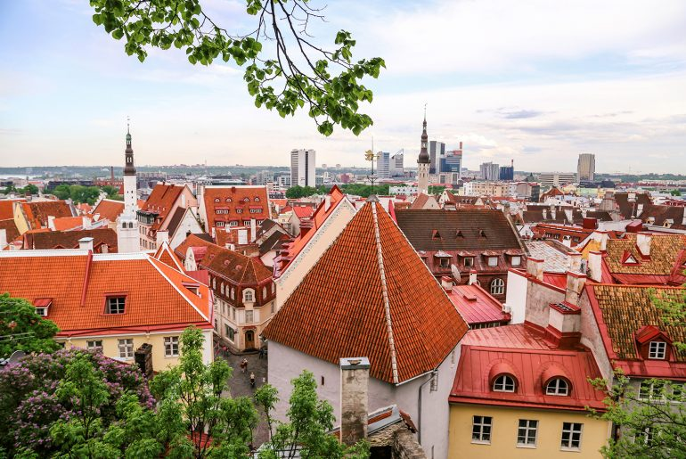 Things To Do in Tallinn Estonia: Enjoy the view on Old Town from Toompea Hill Piiskopi viewing platform