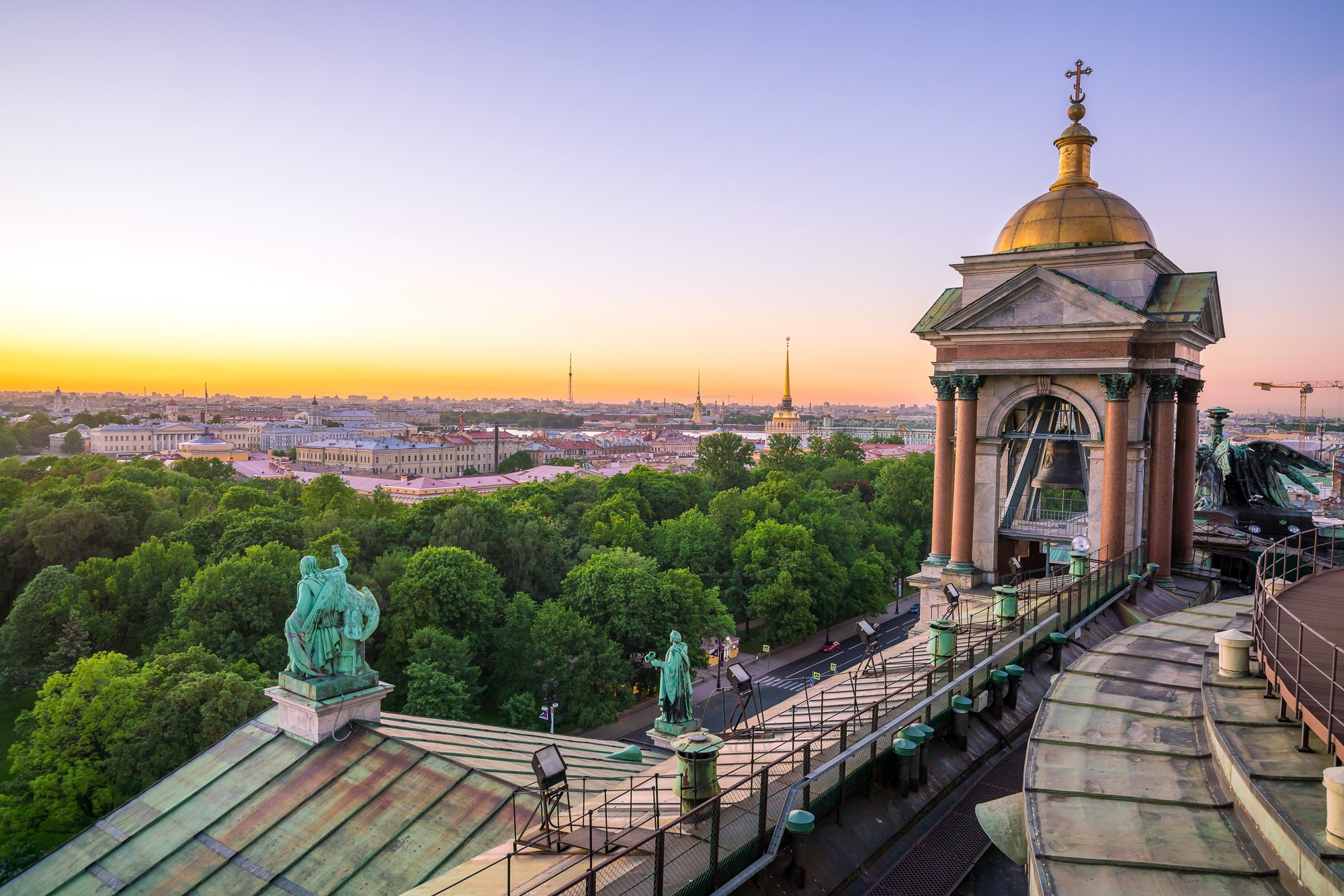 3 days in St Petersburg: see the St. Petersburg skyline from St Isaac's Cathedral