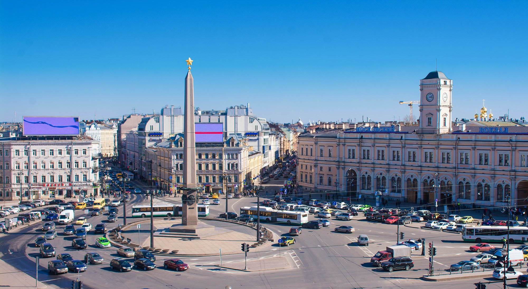 Vosstaniya square in St Petersburg, Russia