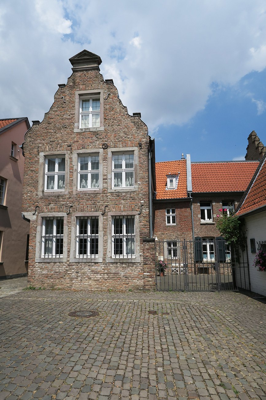 Beautiful brick house front at Düsseldorf Kaiserswerth