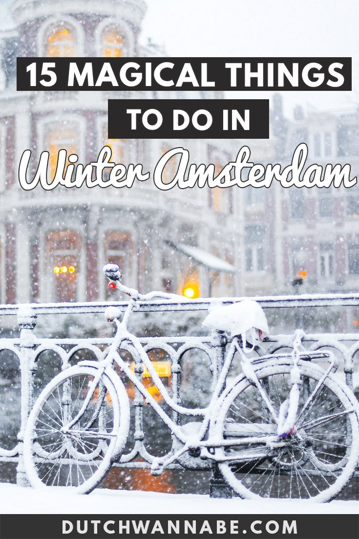 15 things to do in Amsterdam in December: a winter Amsterdam guide to seasonal exhibitions, museums, and more. Stay for the festivals, explore the canals, check out the Christmas markets and more. #cityguide #Amsterdam #Europe #travelguide #amsterdamguide
