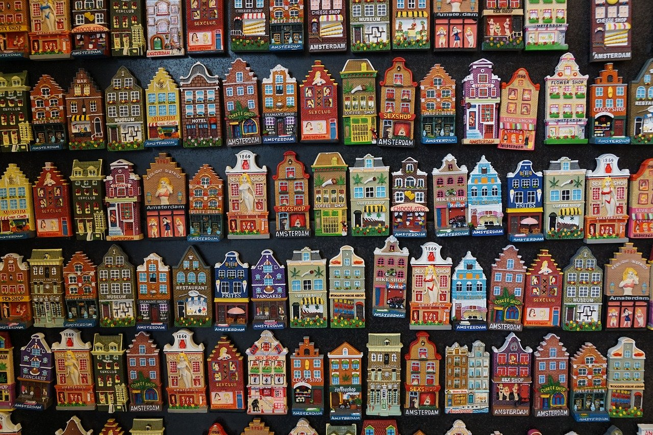 Amsterdam kitchen magnets, Dutch souvenirs