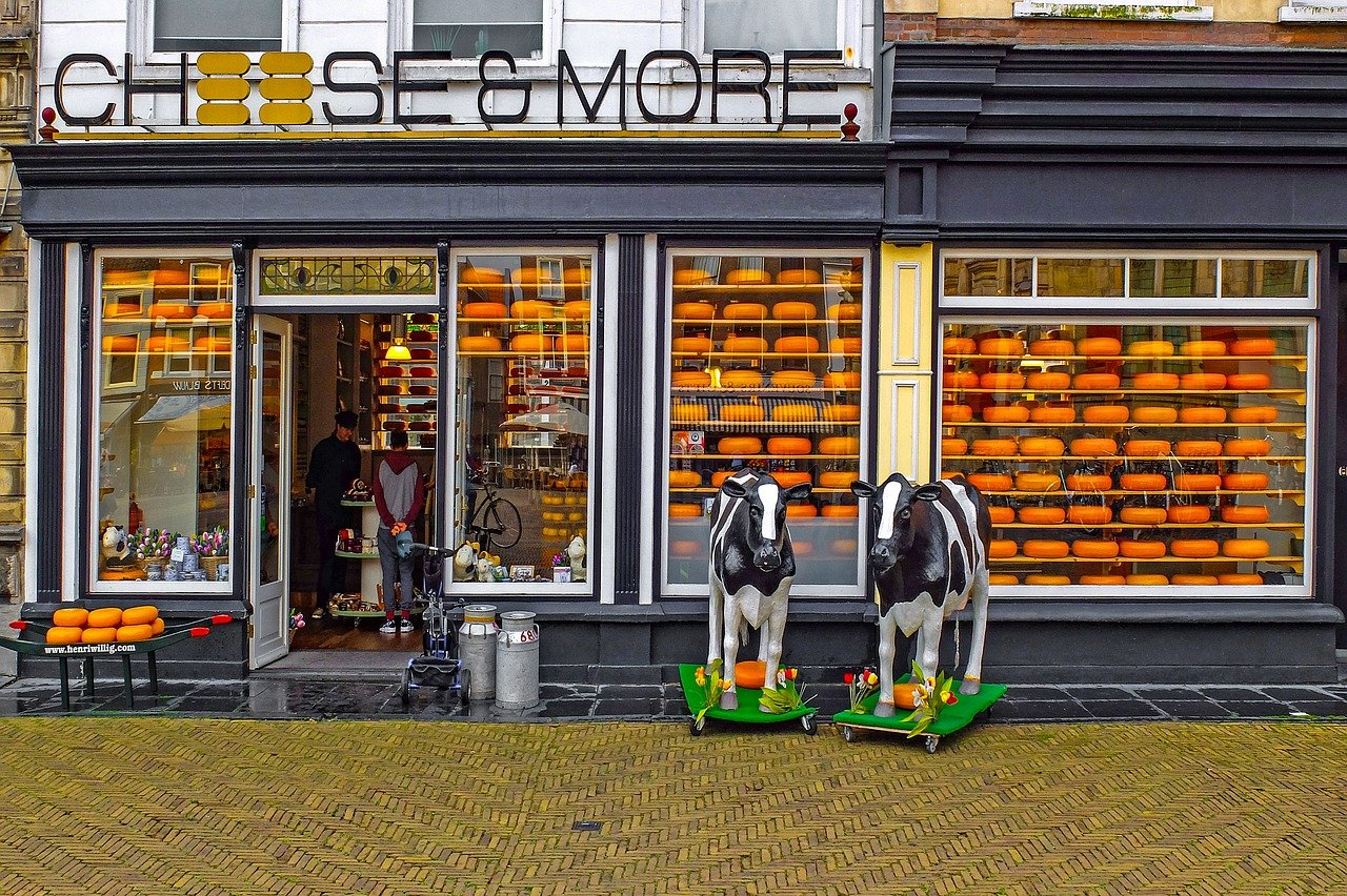 Cheese and more shop in Amsterdam