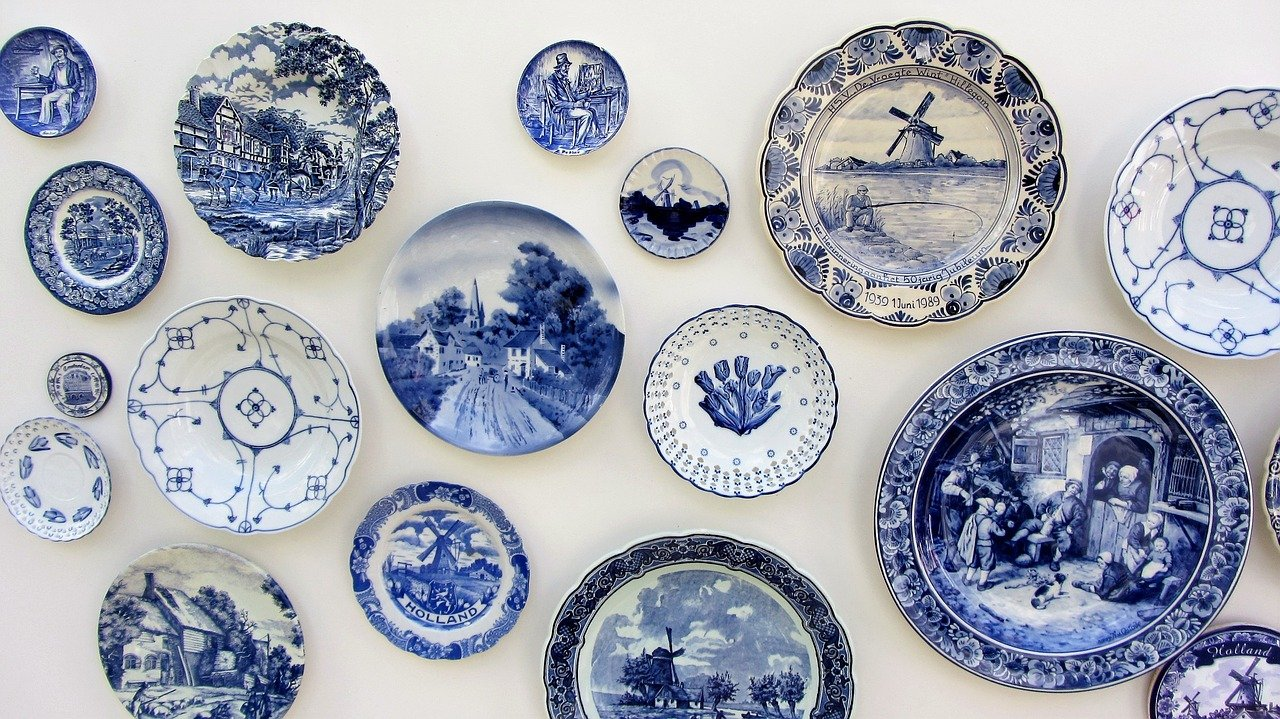 Delft pottery plates