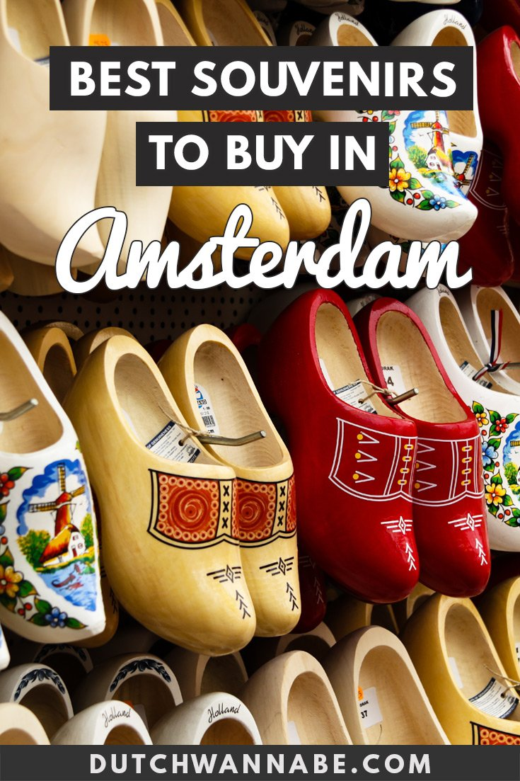 What to buy in Amsterdam: Your Guide to Amsterdam\'s Best Souvenirs. From clogs to cheese, tulip bulbs and stroopwafels, to Van Gogh merch collections and Delft Pottery. #Europetravel #Amsterdam #shopping