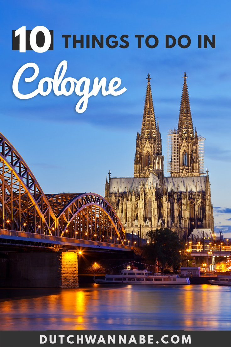 Headed to Cologne? Here are 10 things to do in Cologne in one day! If you only have 24 hours in Cologne and planning to spend an afternoon, this travel itinerary is perfect. From the Cologne Cathedral to the Chocolate museum, Kolsch brewery and more. #traveleurope #cityguide #cologne