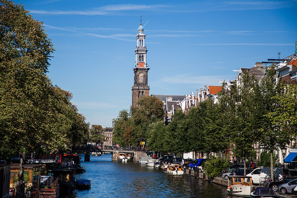 Amsterdam Westerkerk in summer: best time to visit Amsterdam