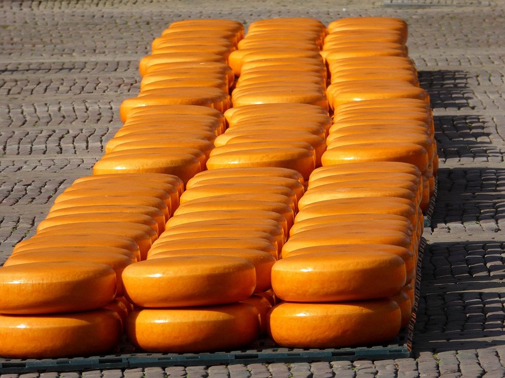 Alkmaar cheese market on the square