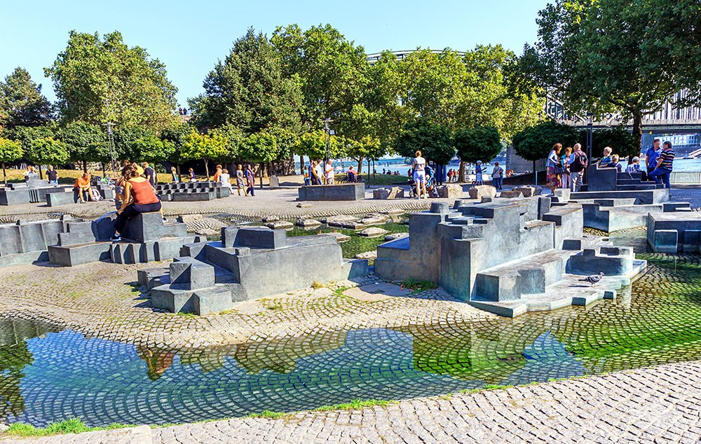 Things to do in Cologne in one day: visit Paolozzi-Brunnen little fountain