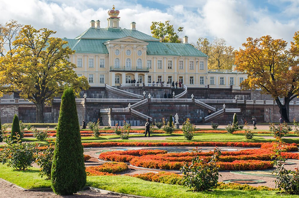 The Oranienbaum Palace in Lomonosov garden