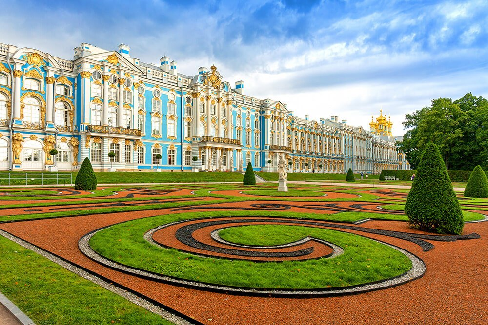 Catherine Palace in Tsarskoye Selo Pushkin St Petersburg Russia