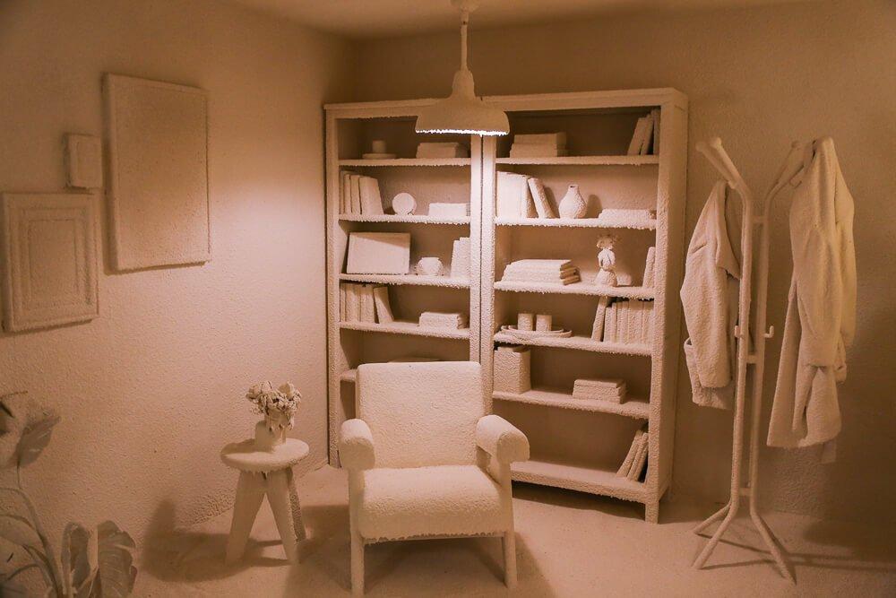 Daniel Arsham calcified room in Moco Museum Amsterdam