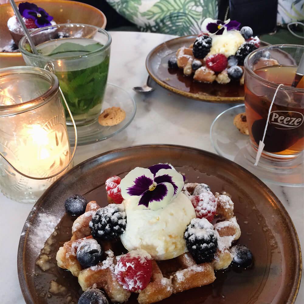 Benji's Amsterdam waffle dessert