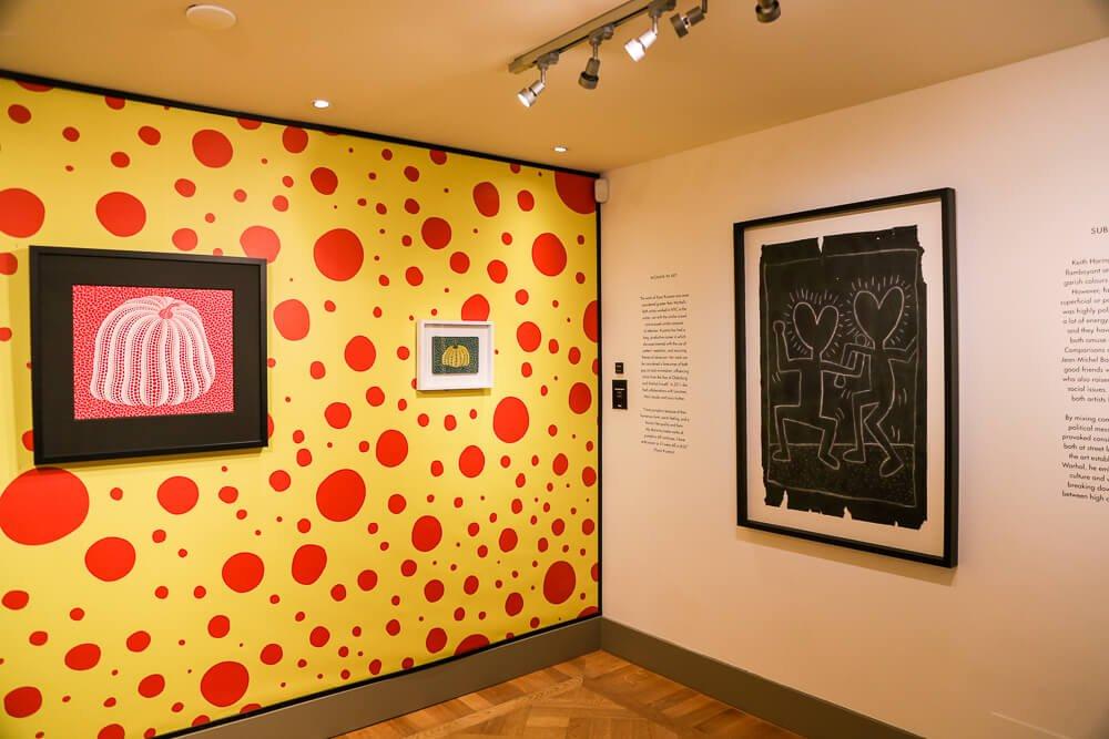 Yayoi Kusama exhibition in Moco Museum Amsterdam: polka dot pumpkins