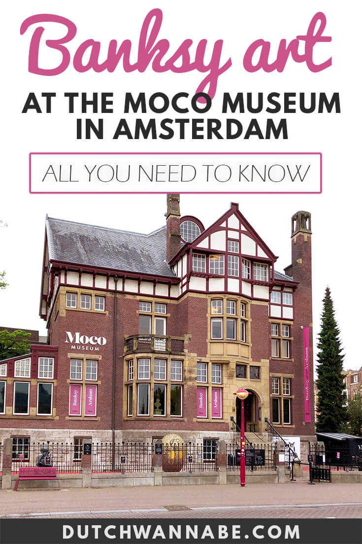 Want to see the Banksy exhibition at the Moco Museum in Amsterdam? This review will help you decide when to go, will tell you all about the exhibition and will prepare you for the awesomeness of the artwork.  #amsterdam #banksy