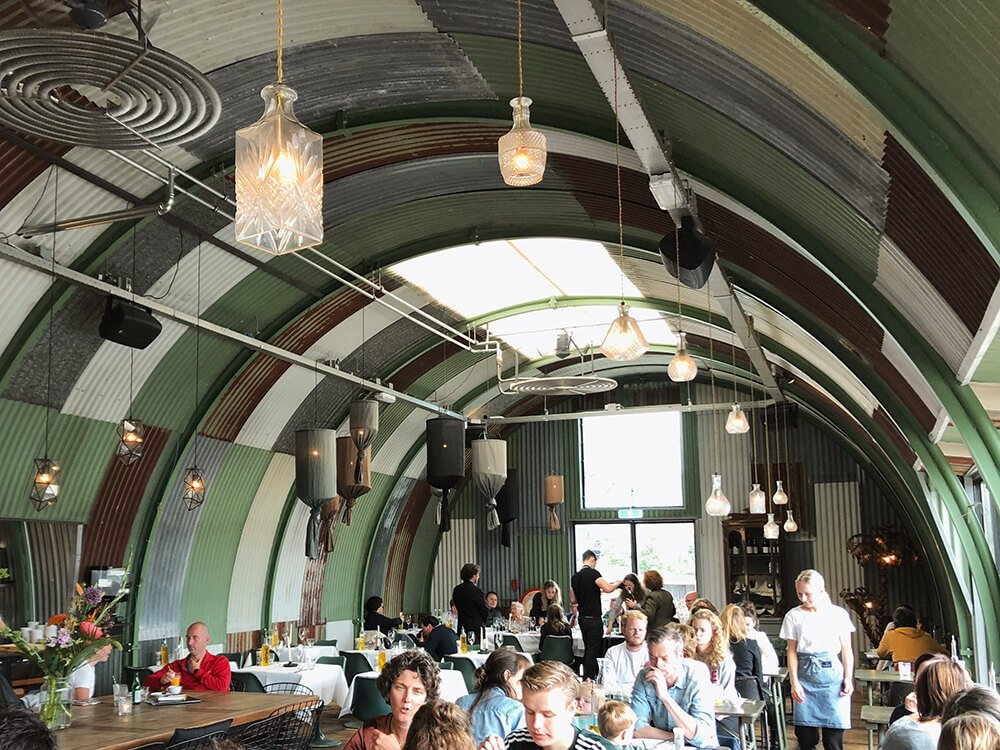 Hangar cafe in Amsterdam