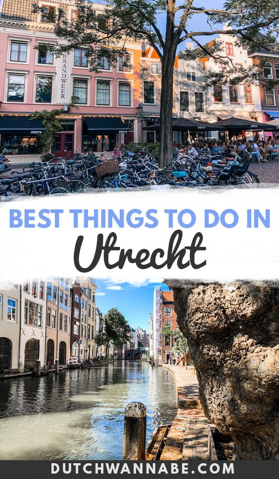 Things to do in Utrecht on a weekend trip from Amsterdam: kayak on the canals, climb the Dom tower, dine in cellar restaurants and so much more. #europetravel
