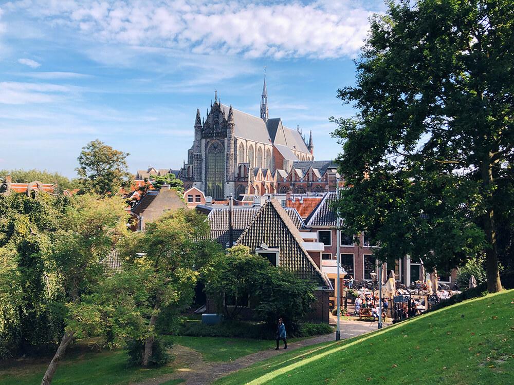 View from De Burcht Leiden on the Pieterskerk