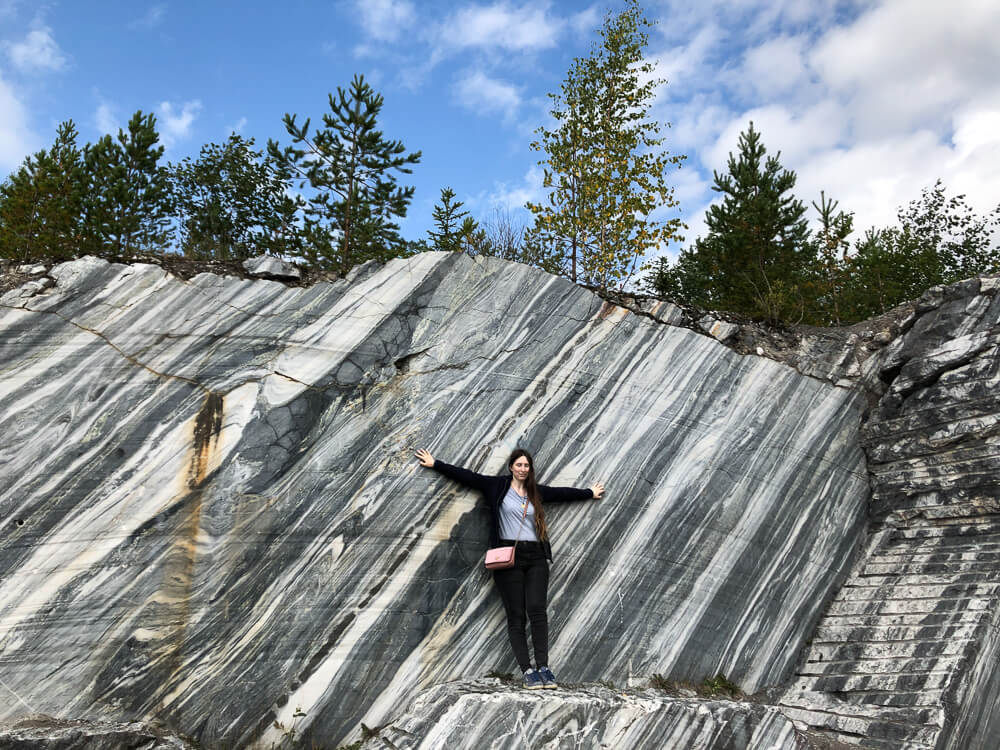Ruskeala marble quarries tour in Karelia