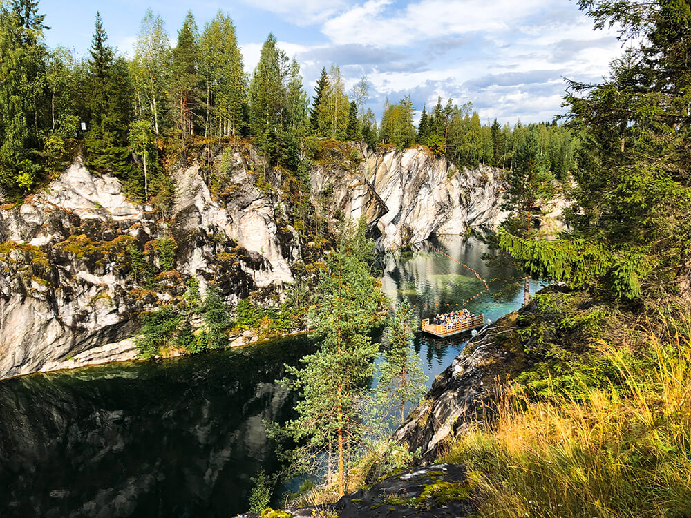 Ruskeala park in Karelia