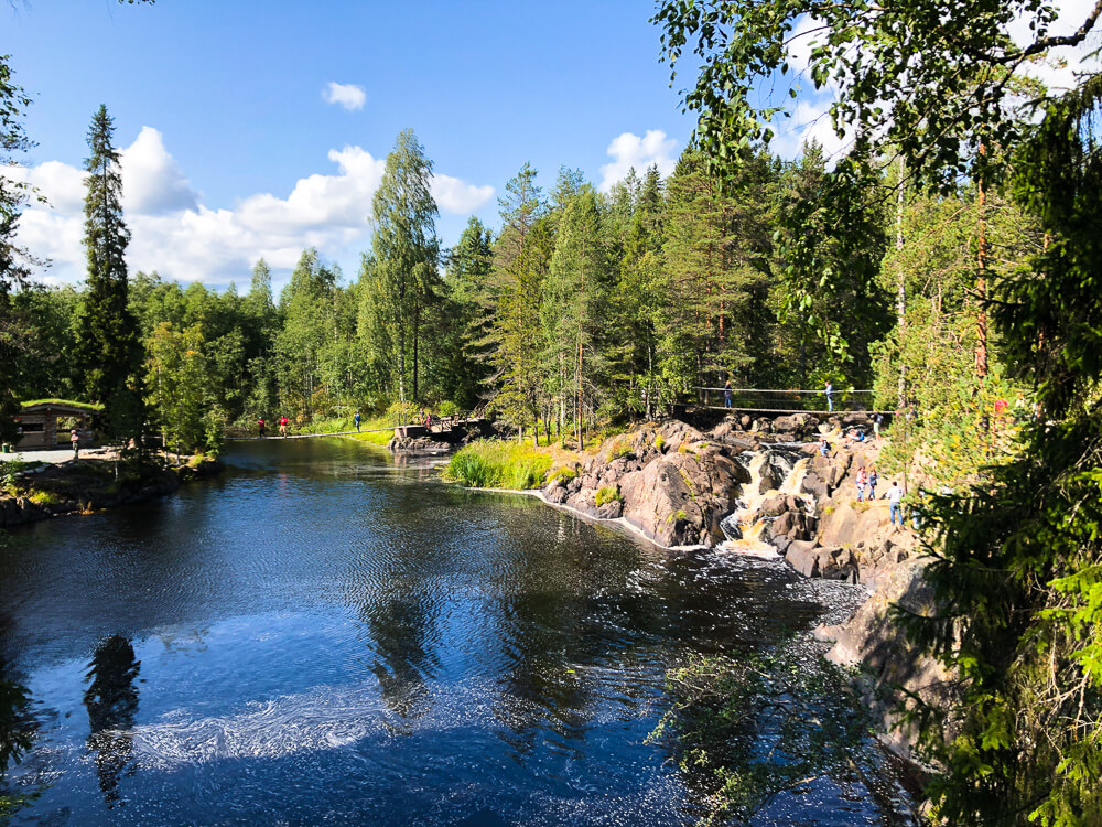 Ruskeala waterfalls in Karelia