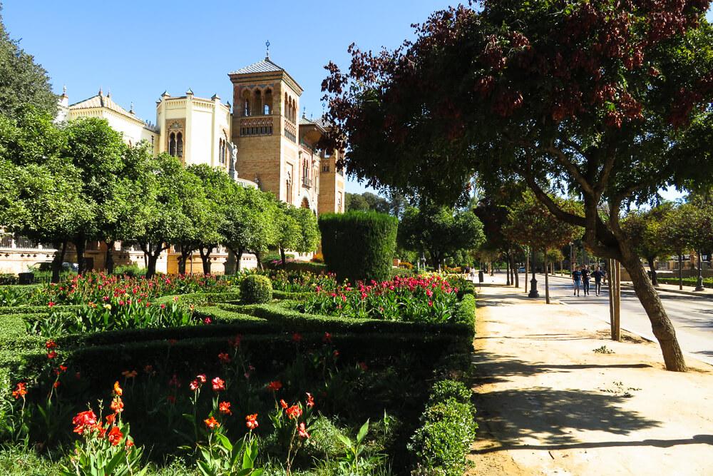 Maria Luisa Park views in Seville