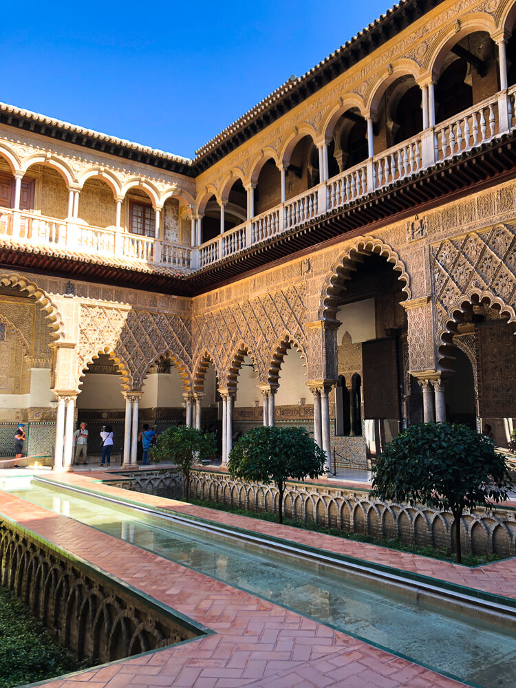Gorgeous inner courtyard of the Real Alcazar Royal Palace