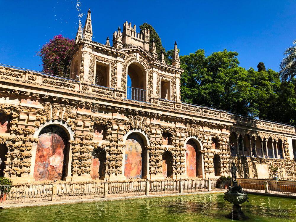 Fountains in Real Alcazar Royal Gardens