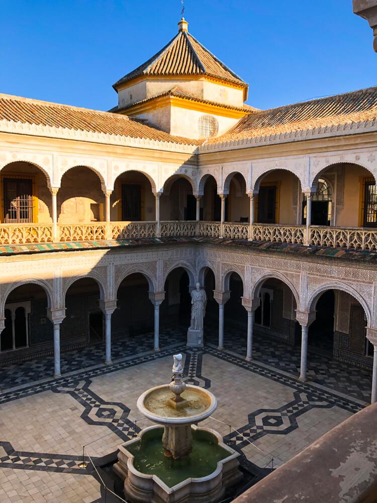 Casa de Pilatos in Seville inner courtyard