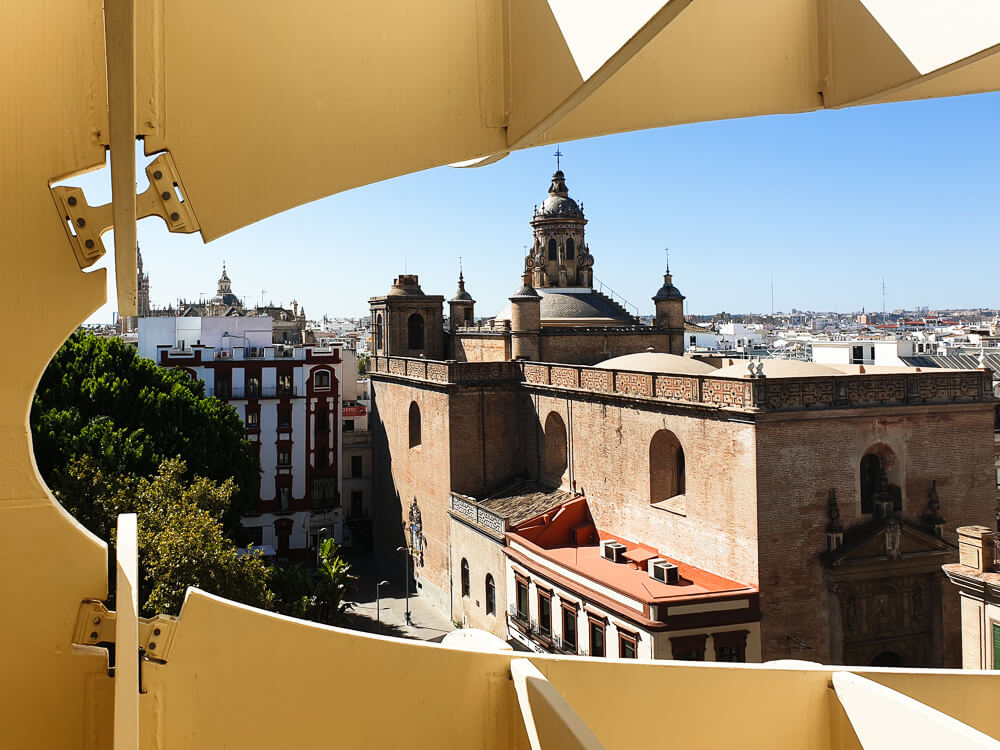 View on Seville from the Metropol Parasol