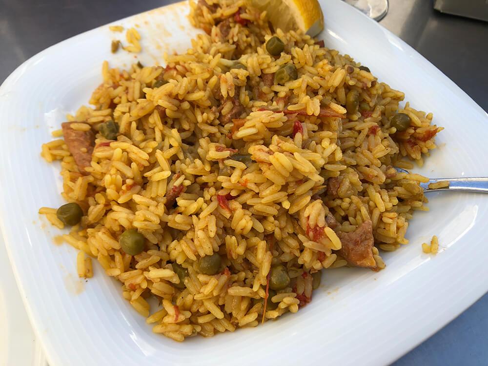 Seafood Paella at Bar Santa Marta Seville