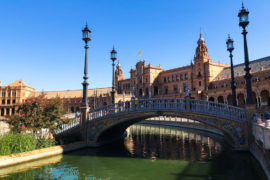 Plaza de Espana in Seville bridge