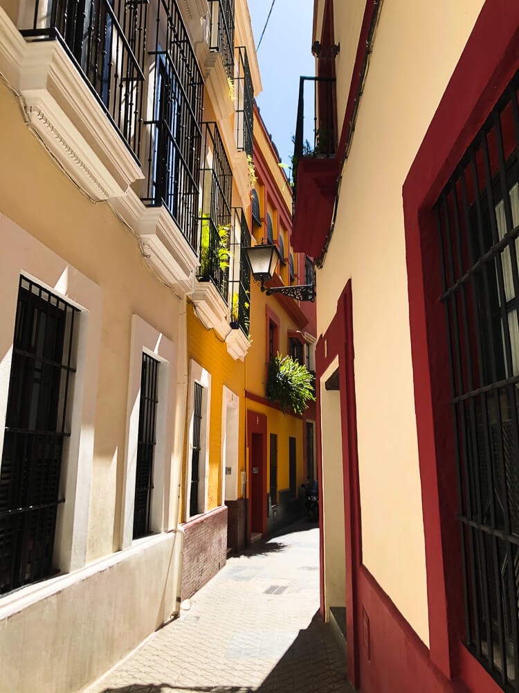 Narrow Seville streets