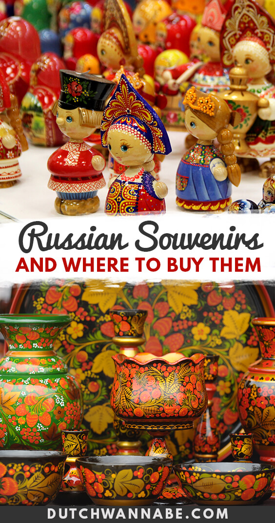 Which Russian souvenirs do you need to buy and where to find them in Moscow and St. Petersburg: gzhel, khokhloma, matryoshka Russian nesting dolls, candy, Russian food and so much more.