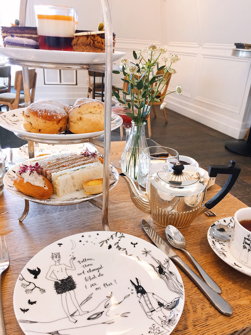 Unusual things to do in London: Themed High tea at the Swan - A Midsummer Night's Dream