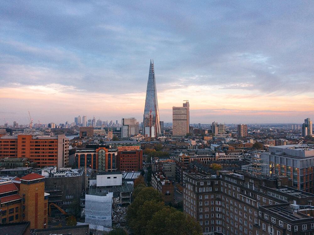 London Shard view